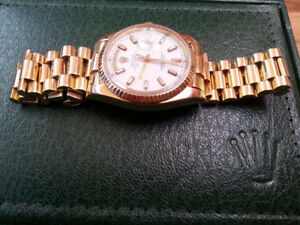 ROLEX PRESIDENTIAL 18K GOLD 36MM, 14000$ OR EXCHANG
