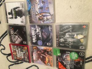 PS3 games for sale - COD Ghosts, Uncharted 3, Battlefield 3, etc