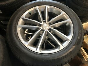2017-2018 Hyundai Santa Fe Alloy rims and tires