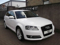11 61 AUDI A3 1.6TDI SPORT SE TURBO DIESEL 5DR WHITE £20 TAX ALLOYS CLIMATE FSH