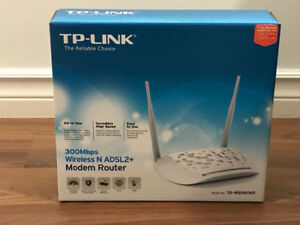 TP- link wireless N ADSL2 modem router