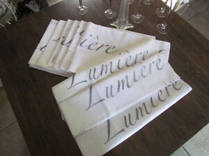 """""""WEDDING DECOR""""WHITE VOILE""""LUMIERE""""TABLE RUNNERS EXC.CONDITION"""
