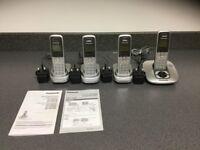 Panasonic Quad answer machine/telephone handset