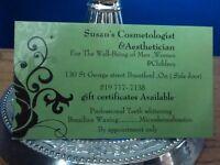 Susan's  Aesthetic..... Aesthetician / Cosmetologist