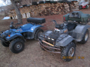 2 suzuki 300 4x4 king quads trade for tractor with loader