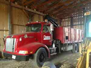 1991 Western Star stake truck with Hi-Ab boom