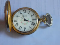 WIND-UP, Swiss Made Pocket Watch 17 Jewels 1960s