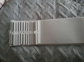 5 inch wide aspen grey, vertical blind slats replacements