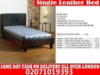 SINGLE LEATHER BED