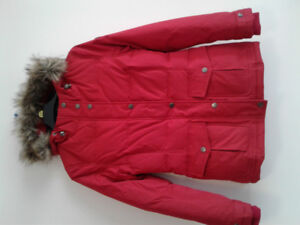 New ecko red down winter jacket woman size s