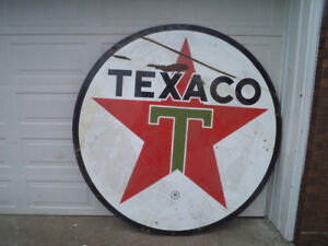 Vintage Texaco Sign Double Sided