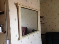 Tv unit,display unit,mirror & two cd / display stands, cream colour, £75 for all