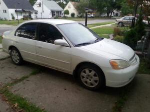2002 Honda Civic Dx Sedan- selling AS IS