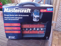 Mastercraft Plunge Router Kit with 18 accessories - NIB