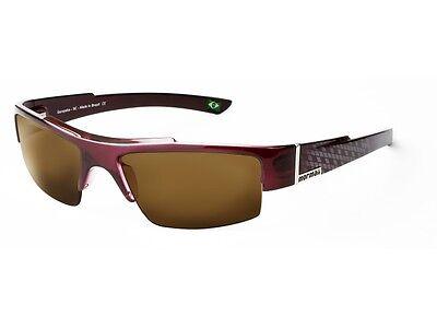 New Mormaii Atol Women UV400 Eyewear Sunglasses Brown Lenses Dark Burgundy Frame