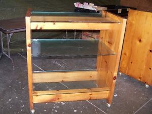 Two Roll-About Display Units (3 TIER) KNOTTY PINE