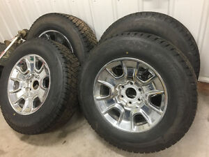 WINTER TIRES AND RIMS FOR 1/2 TON in excellent condition