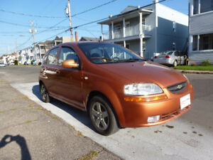 2005 Chevrolet Aveo orange brulé Familiale