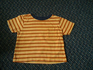 Boys Size 2 Short Sleeve Cotton Striped T-Shirt