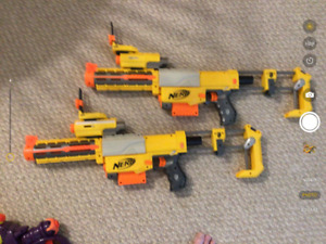 Nerf  toy guns with cartridges