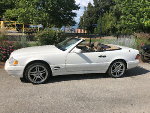 White Mercedes SL600 convertible for sale