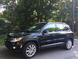 2014 VW Tiguan Comfortline 52,620 km WT on rims
