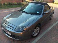 Excellent condition grey MG tf 1.8 convertible with hard top