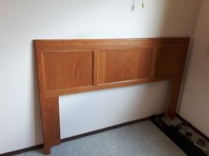 Queen size headboard and rails