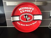 Retro McEwan's Export Drinks Tray