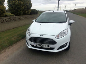 2013 63 Ford Fiesta 1.0 (100ps) EcoBoost Zetec White 3 Door Petrol £0 ROAD TAX.