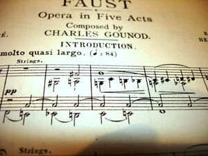 1910 FAUST Grand Opera BARBIER & CARRE music vocal score GOUNOD Cambridge Kitchener Area image 4