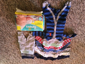 Boy Preemie Clothes and Diapers