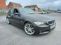 2006 06 BMW 325i 2.5 AUTOMATIC 4 DOOR M-SPORT IN BLACK.FULL HEATED LEATHER.2KEYS