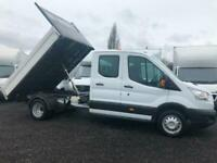 2018 (68) FORD TRANSIT T350 L3 LWB DOUBLE / CREW CAB DROPSIDE TIPPER EURO 6
