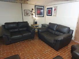 Sofology violina 2+2 real leather sofa's