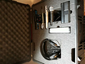 3 Microphones in CUSTOM MADE  BIG PELIKAN FOAM TRANSPORT BOX