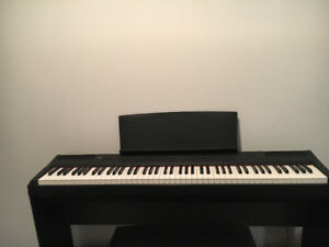 Yamaha P105 digital piano with stand/pedals and bench