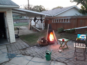 chiminea . fire pit  , fire place