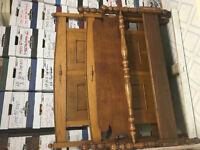 2 antique double head/foot board frames