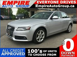 2009 AUDI A4 2.OT QUATTRO * AWD * LEATHER * SUNROOF * BLUETOOTH