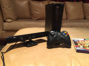 XBOX 360 KINECT + 1 REMOTE + 2 GAMES - USED ONCE