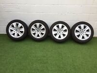 Bmw alloy wheels with winter tires