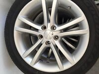 "Dodge Avenger 18"" aluminum rims and tires"