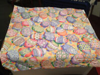 Easter egg cloth napkin - 16 in X 16 in - finished edges