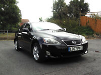 2007 07 LEXUS IS 220d 2.2 TD 6 SPEED TURBO DIESEL BLACK PX SWAP