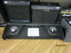 "JL 10W3V3-4 10"" ; x2 Subwoofers in Shallow Sub Box"