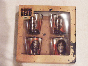 Walking dead shot glasses