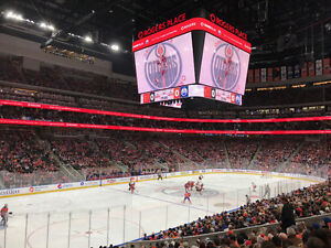 Oilers vs Avalanche Lower Bowl Aisle Seats