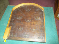 Vintage table top Bagatelle left handed pinball wood game