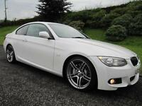 2012 BMW 335d M-SPORT PLUS COUPE **TWIN TURBO**MINERAL WHITE**BLACK LEATHER**
